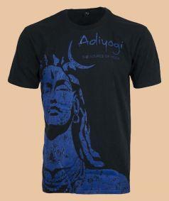 Adiyogi Unisex T-Shirt, Blue Print